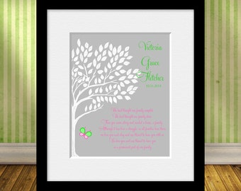 Personalized ADOPTION Print, Butterfly Family Tree, Adoption Poem, Adoption Print, Personalized Adoption Poem,