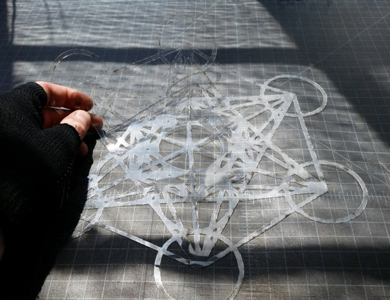 Metatron's Cube Stencil - Sacred Geometry