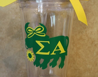 Sigma Alpha Tumbler - Personalized