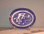 Vintage Fenton England Blue Willow Platter