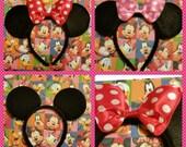 Headband 30 Stunning Big Bow Minnie Mickey ear Headband Includes a Birthday Headband