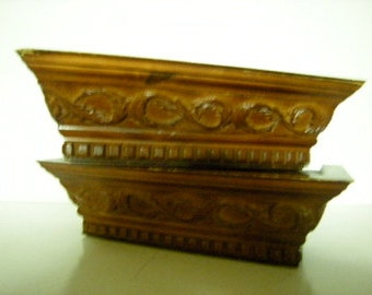 wood shelves-sconces-wall display-carved-display shelves-