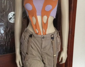 Handmade leeloo 5th element inspired orange cosplay outfit to fit size 8-12 Free UK P/P