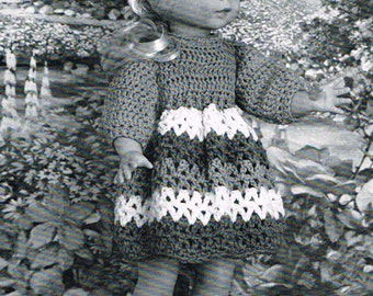Dolls Clothes Crochet pattern. 12, 14, 16, 18, and 20 inch doll. Vintage copy. PDF Instant download.