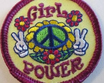 """Girl Scout Fun Patch """"Girl Power"""""""