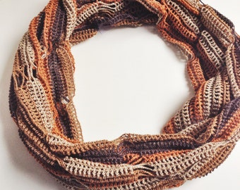 Autumn shades summer cowl scarf