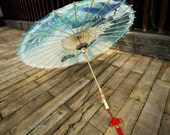 Blue Butterfly and Orchid Umbrella Beautiful Chinese Oil-paper Umbrella Chinese Traditional Umbrella for Ladies