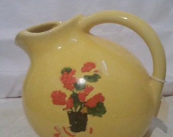 Bright Yellow Vintage Pitcher