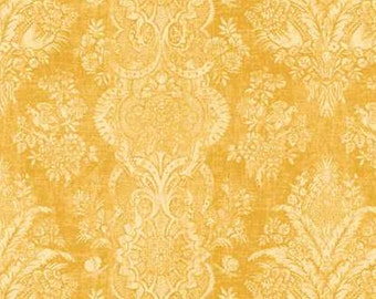 Joyful Blooms Studio e Gorgeous Naples Golden Yellow Damask (By 1/2 yd)