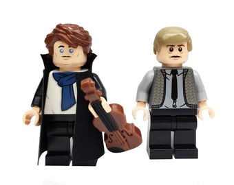 Sherlock Holmes & Watson - miniBIGS Custom Figure made from Genuine LEGO Minifigure Elements