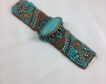 Bead Embroidery Cuff - SPECIAL ORDER, RESERVED