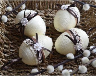 Set of 4 Easter eggs, Easter eggs, Easter decor, Easter eggs ornaments, Spring ornament