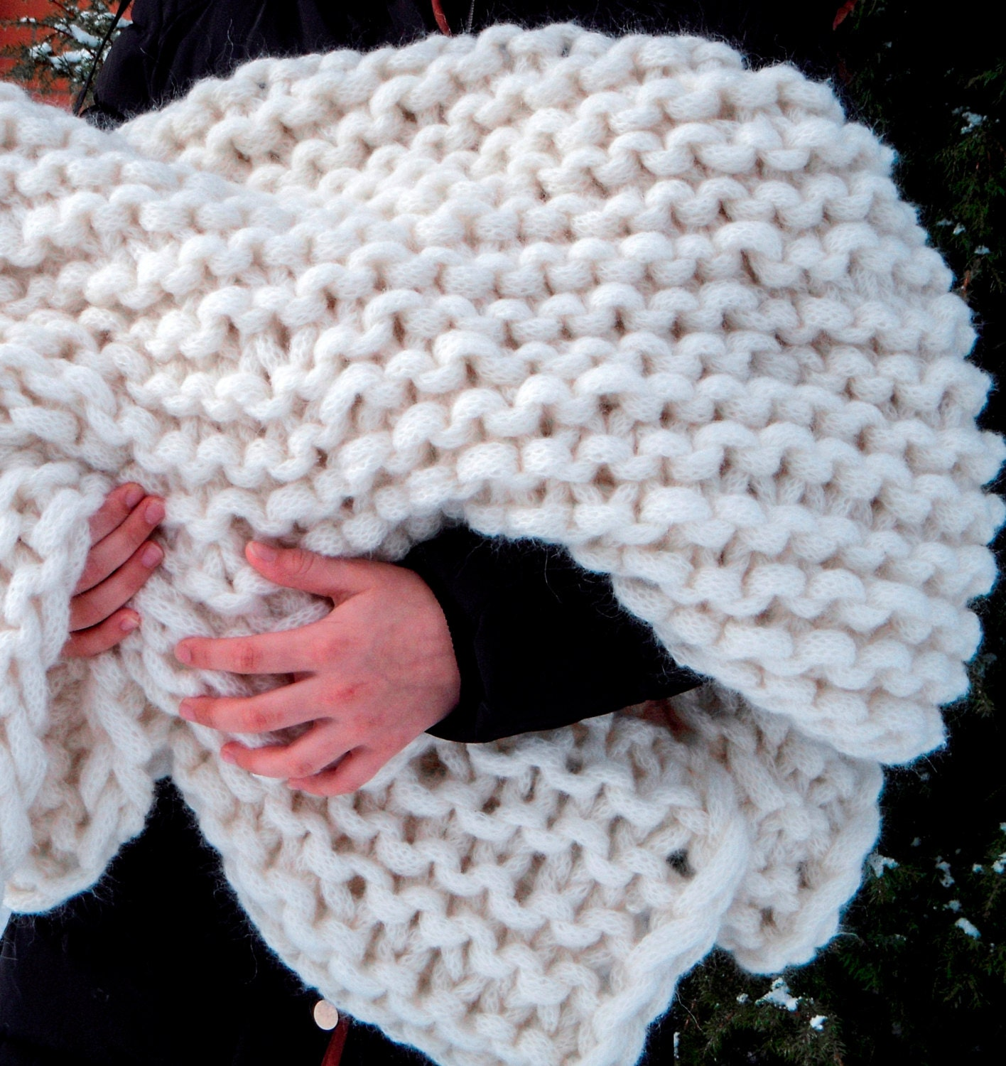 Giant Knitting Blankets : Chunky knit blanket giant super by amberzhanno