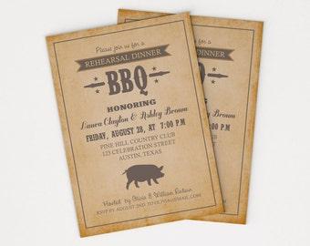 Rehearsal Dinner BBQ Party Invitation