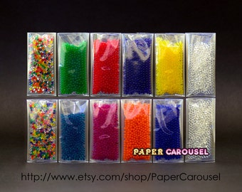 12 Bags (3-4grams/Bag) Water Jelly Crystal Soil Mud Beads & Orbeez Refill Balls