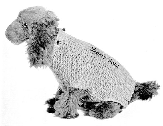 Knitting Pattern For Medium Sized Dog : Small to Medium Size Dog Sweater Boston Terrier Socker