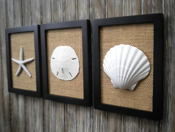Cottage Chic Set Of Beach Decor Wall Art Bathroom Decor Beach House