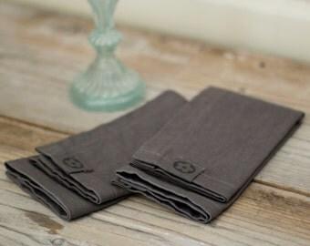 Ensemble de serviettes en lin de 2, fait sur mesure, réglage de la Table