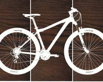 Bike Wall Art road bike / street bike wall art / bicycle screen print /