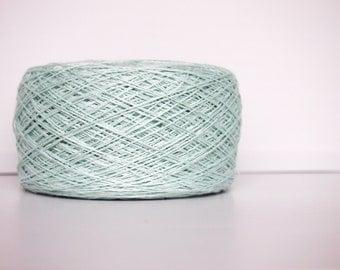 Pastel Mint Linen Yarn, #077 High Quality, Linen Yarn For Crochet, Knitting, 100 g/ 3.5 oz
