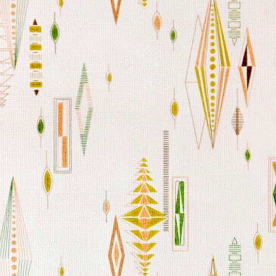ATOMIC 1950s 60s Original designed Mid Century Vintage Fabulous Wallpaper