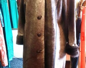 Beautiful 70s Cow skin coat. Really unusual!
