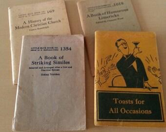 Vintage Little Blue Books