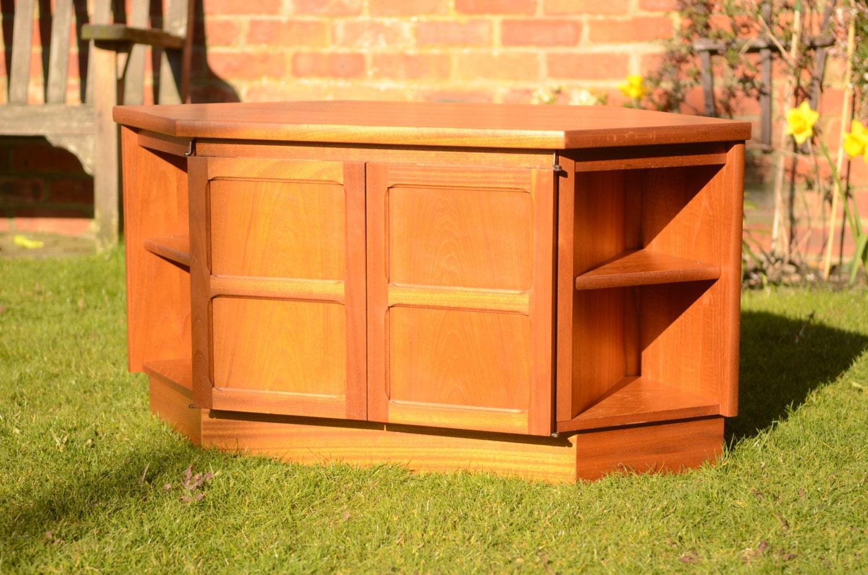 Mid Century Corner Cabinet: Retro Nathan Corner TV Cabinet Vintage Mid Century Teak