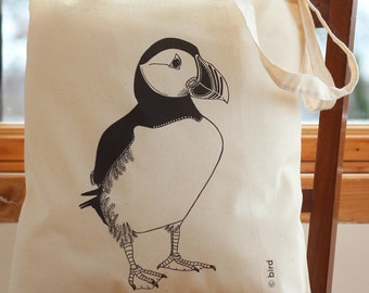 Puffin Cotton Tote Bag
