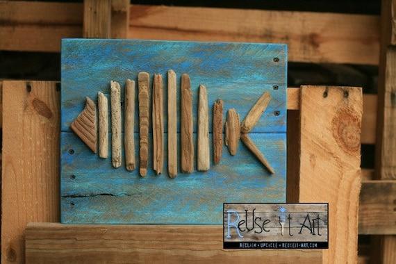 Panneau bois palette art 121 2 x 10 bois flott petit for Panneau bois flotte