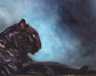 Sale! Black Panther Fine Art giclee Canvas print