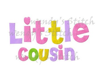 little cousin machine embroidery design digital pattern instand download