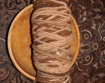 100% Suri Alpaca Rug Yarn- Multi Browns