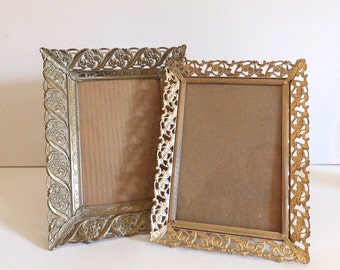 Vintage Stamped Metal Frame Set