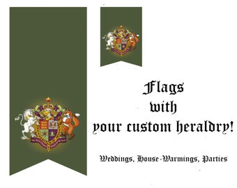 Flags with your custom heraldry-Medieval wedding decor