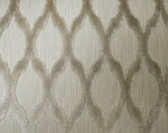 Modern Diamond Velvet Fabric in Pearl