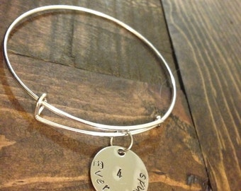 Hand stamped expendable bangle bracelet