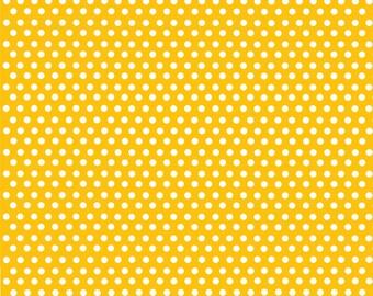 Yellow gold with white mini polka dots craft  vinyl sheet - HTV or Adhesive Vinyl -  polka dot pattern HTV2301