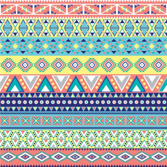 Aztec Tribal Pattern Heat Transfer Vinyl By Breezeprintcompany