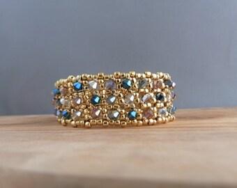 Gold plated beaded bracelet handmade