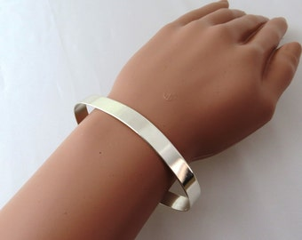 Adjustable silver bracelet , large silver bracelet , Moroccan silver bracelet , braids maid gift , gift for her