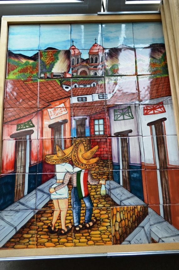 35 pieces mexican tile wall mural guadalajara mexican murals