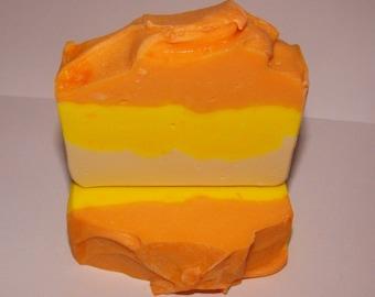 Fresh Fruit Menagerie Wonderful Pure Silk Goat's Milk Soap with Tangerine, Lime, Lemon, Yuzu, Satsuma, Strawberry!