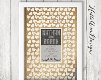 Unique wedding guest book, rustic wedding décor, burlap wedding décor, rustic wedding décor, wedding guest book ideas, sweetheart table