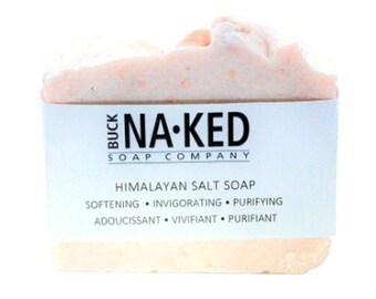 Natural Soap Himalayan Salt Soap - Soap, Vegan Soap, Cold Process Soap, Exfoliating Soap, Cold Process Soap, Soap, Glycerin Soap, Soap