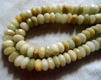 7 to-8 mm Natural Whitish Yellow Green Peruvian Opal 8x1/2 inch Strand-Best Price.