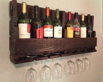 Wood Wine Rack, Reclaimed Wood Wine Rack, Wine Rack With or Without Painted Words