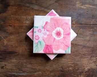 Tile Coasters, Flower Coasters, Garden Coasters, Paper Coasters, Coasters, Drink Coasters, Ceramic Coasters, Table Coasters