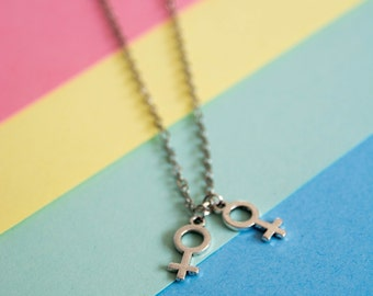Lesbian LGBT necklace - lesbian pride - lgbt pride