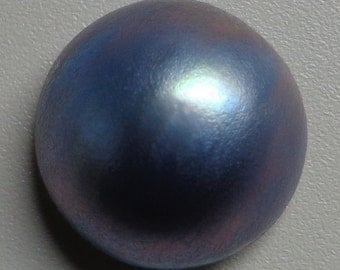 Brown Tahitian Mabe Pearl Cabochon - 15mm to 16mm round  backed with Mother of Pearl - High Grade